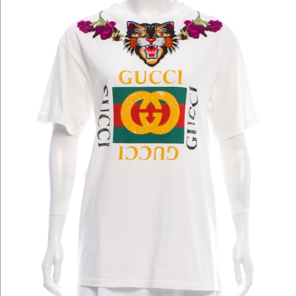 c7e466a9 Gucci Shirts | Authentic Embroidered T Shirt Unisex | Poshmark